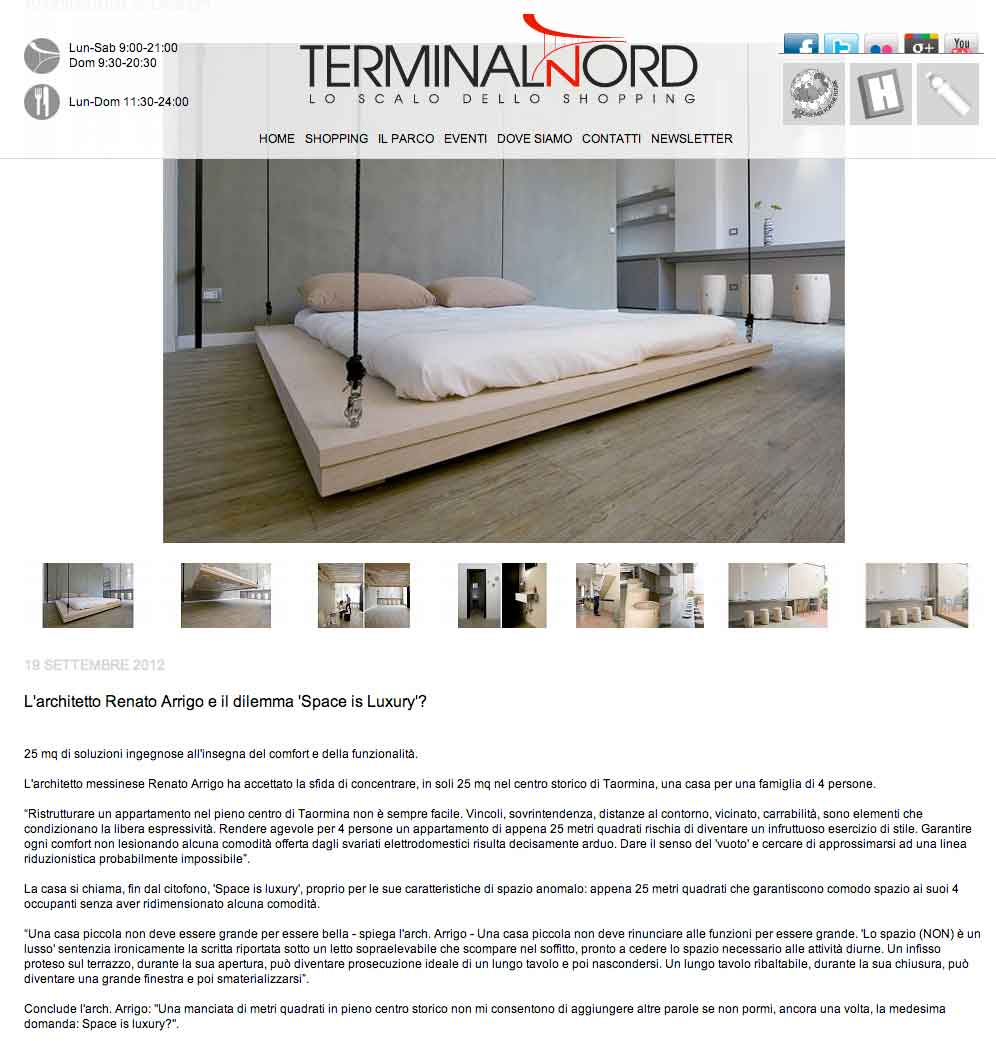 Terminal Nord, 19 settembre 2012, shop on line (I)